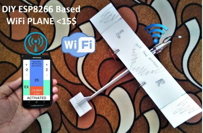 ESP8266-based WiFi-controlled DIY Model Airplane | Espressif