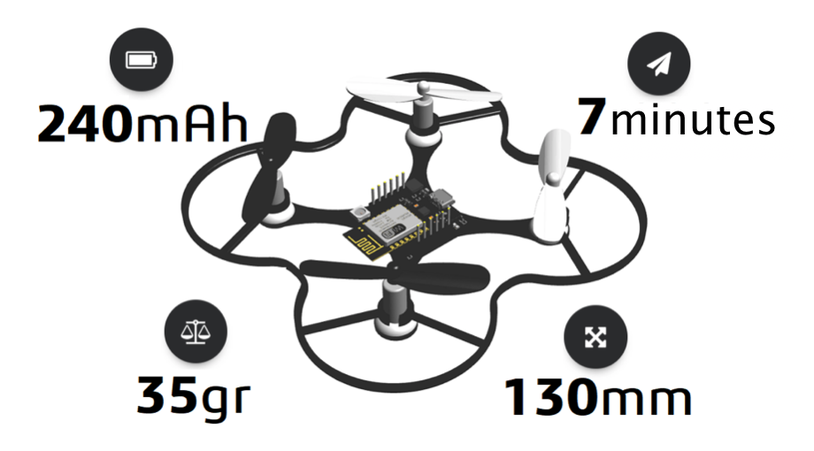 ESPcopter: An ESP8266-based Programmable Mini Drone